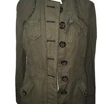 Anthropologie Army Green Olive Jacket Hei Hei Size 8 Photo