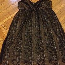 Anthropologie Baby Doll Black Nude Lace Nightie Slip Dress by Only Hearts Xs Photo