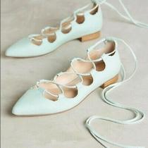 Anthropologie Billy Ella Lace-Up Flats Size 7 Mint New With Box/tags Photo