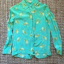 Anthropologie Bird Mint Yellow Shirt Photo