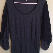 Anthropologie Blackgray Solidcowl Neck Sweatersize L Acrylic Photo