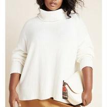 Anthropologie Blair Turtleneck Sweater Beige Size 1x Photo