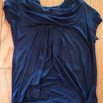 Anthropologie Blouse Deletta Small Blue Scoop Neck Shirt Blouse Sexy Top Summer Photo
