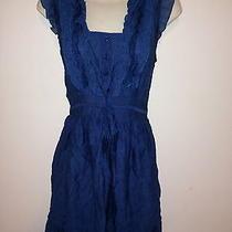 Anthropologie Blue Bird Ruffled Mini Dress M Photo
