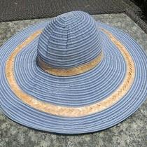 Anthropologie Blue Polyester/straw Summer Hat New With Tag Photo