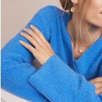 Anthropologie Blue v-Neck Sweater Size Sp Nwt Photo