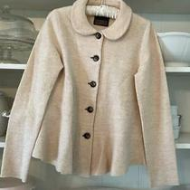Anthropologie Blush Pink Wool Cardigan Women's Medium Photo