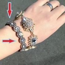 Anthropologie Bracelet Flower Crystal Bauble Bar New Photo