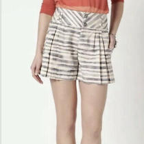 Anthropologie Brindled Shorts 6 Cartonnier Small Stripe Sailor Pleated Flirty Photo