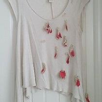 Anthropologie C Keer Falling Leaves Top Shirt Sz S  Rare Photo