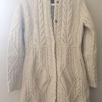 Anthropologie Cabled Sweater Coat Medium Guinevere Nwt Photo
