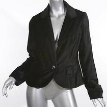 Anthropologie Cartonnier Black Velvet Blazer Jacket Size Medium Photo