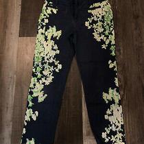Anthropologie Cartonnier Floral Ankle Length Multicolor Pants Sz 4 Photo