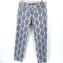 Anthropologie Cartonnier Pants Size 2 Charlie Ankle Brocade Jacquard Trousers Photo