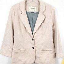 Anthropologie Cartonnier Rose Pink Blush Jersey Knit Blazer Size Small Womens Photo