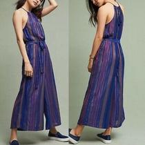 Anthropologie Cleobella Lois Jumpsuit Size 0p Xs Purple Photo