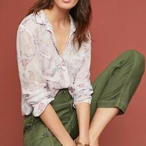 Anthropologie Cloth & Stone Tavira Pale Pink Button Down Shirt Blouse Top Size S Photo