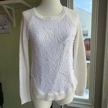 Anthropologie Cloud Chaser Rose Lace Tulle Pullover Sweater Women's S Photo