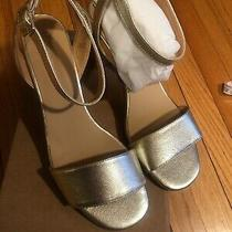 Anthropologie Cork Sandals Gold Nwb Sz 40/9 Prom Wedding Made in Spain Photo