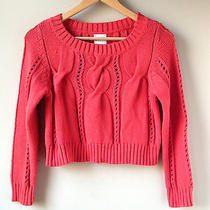 Anthropologie Cropped Cable Pullover Xs Nwot Photo