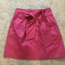 Anthropologie Cynthia Steffe Pencil Skirt With Tie Front Hot Pink Size 6 Photo