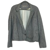 Anthropologie Daughters of the Liberation Blazer Jacket Size 12 Black Striped Photo