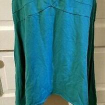 Anthropologie Deletta Teal Midi Skirt S Handkerchief Hem Knit Photo
