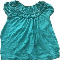 Anthropologie Deletta Women's Puckered  Neck Cuffed Sleeve T-Shirt S Photo