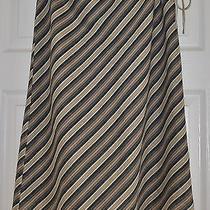 Anthropologie Designer Hazel a-Line Side-Tie Diagonal Stripes Skirt S Small  Photo