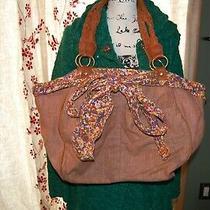 Anthropologie Deux Lux Floral Linen Handbag Hobo Purse Tote Bow Accent 98 Photo