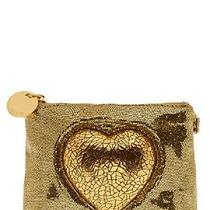 Anthropologie Deux Lux Game of Hearts Clutch - Gold Photo