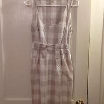 Anthropologie Dolan Grey Gray White Plaid Cotton Sheath Work Dress Size Xs 0 2 Photo