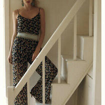 Anthropologie Dolan Rolakan Printed Silk Jumpsuit Size Large Photo