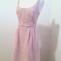 Anthropologie Dress Rosegold Stripes Pink 4 Sequin Sparkle Sachin Babi New Tea  Photo