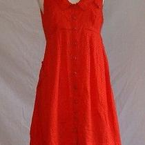 Anthropologie Dress Sz 6 Small Sleeveless Orange  Photo