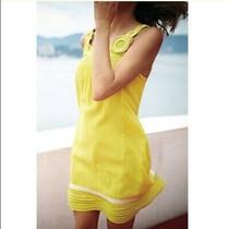 Anthropologie Edme Esyllte Ipanema Dress - Size  Xsmall Yellow Photo