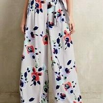 Anthropologie Elevenses Ambrosia Floral Palazzo Wide Leg Pant Size 2 Photo