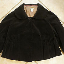 Anthropologie Elevenses Black Velvet Swing Jacket Size 8 Photo