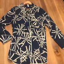 Anthropologie Eloise Button Front Silk Pajama Night Gown Sleep Shirt Small 4/6 Photo