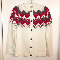 Anthropologie Embroidered Classic Hoodie Cardigan Size M Photo