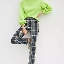 Anthropologie Essential Slim Trousers Casual Pants Plaid Size 4 Nwt Photo