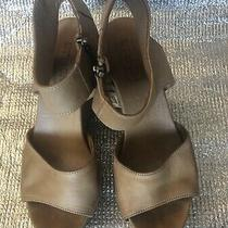 Anthropologie Ethem Buttery Soft Open Toe Wedge Sandal Photo