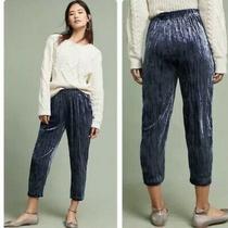 Anthropologie Etttwa Crushed Velvet Cropped Pullover Jogger Pants Size S 118 Photo