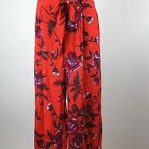 Anthropologie Ett Twa Red Floral Pants Sz 2 Photo