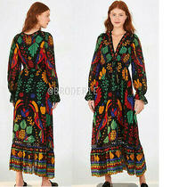 Anthropologie  Farm Rio Georgette Maxi Dress Size  S New Nwt Photo