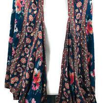 Anthropologie Feathers by Tolani Blue Floral Kimono One Size Photo