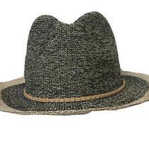 Anthropologie Fedora Woven Hat One Size Brown Tan Boho Euc Photo