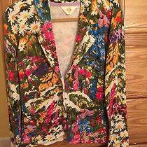 Anthropologie  Floral Knit Jacket Photo