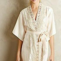 Anthropologie Floral Lace Dress Robe Kimono Blush Lingerie Bra Bhldn New Med Photo