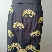 Anthropologie Floreat Embroidered Art Nouveau Style Skirt Us Size 2 Uk Size 6/8 Photo